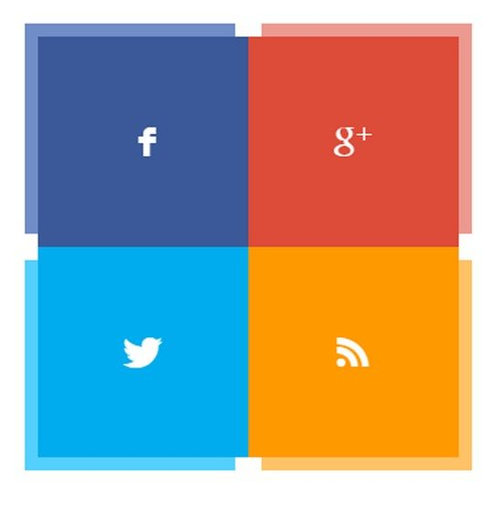 Social Icon Pane (Hover for effect)