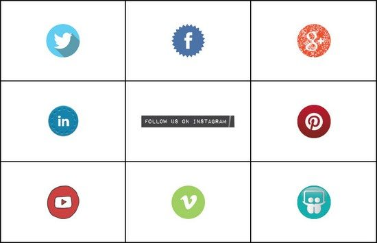 Social media icons – easy peasy lemon squeezy