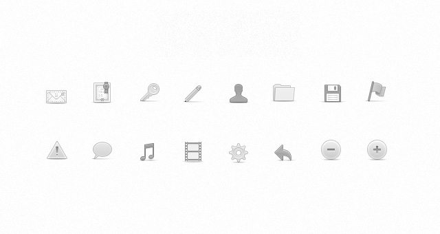 Soft Media Icons Set Vol 2