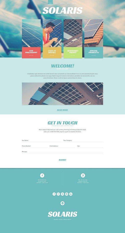 Solaris Energy Responsive Website Template