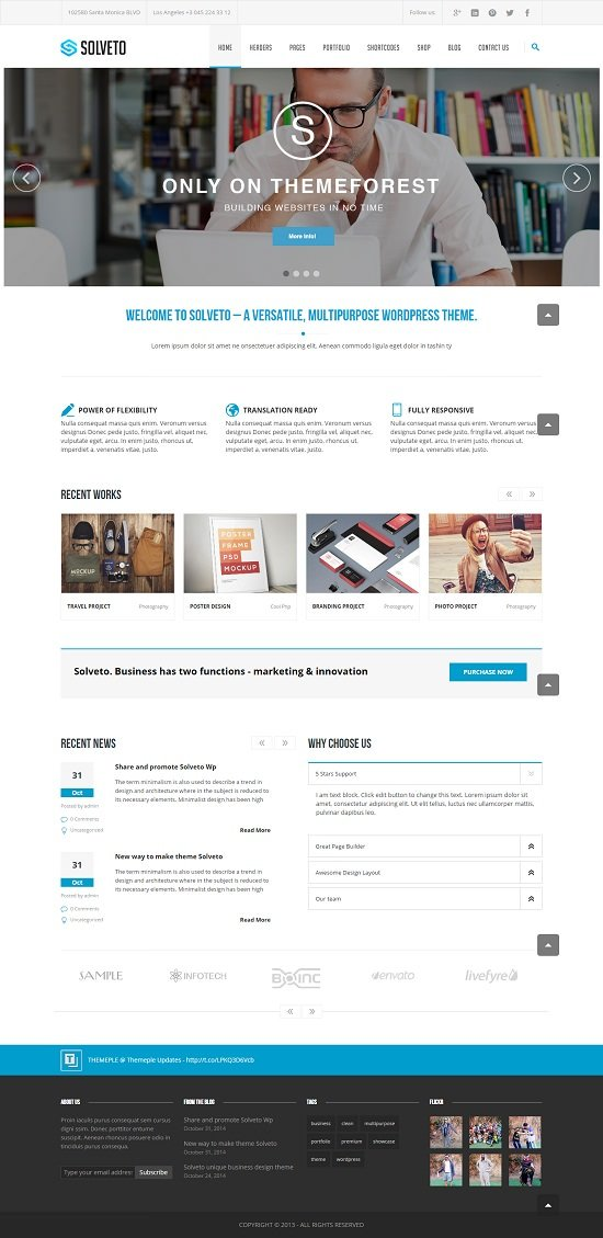 Solveto - Multipurpose Business Template