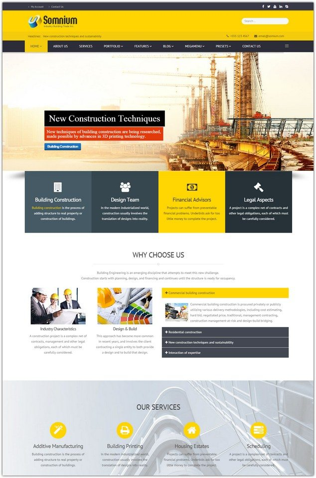 Somnium - Building Business Joomla Template