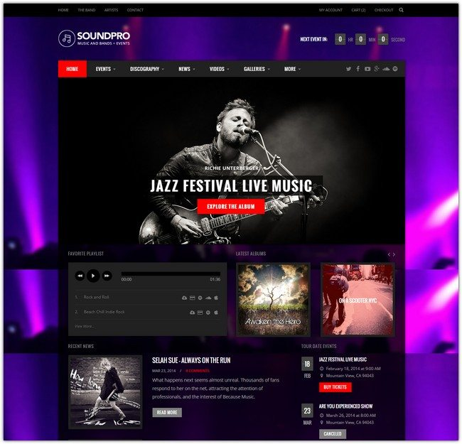 SoundPro - Responsive Music, Band & Event Template