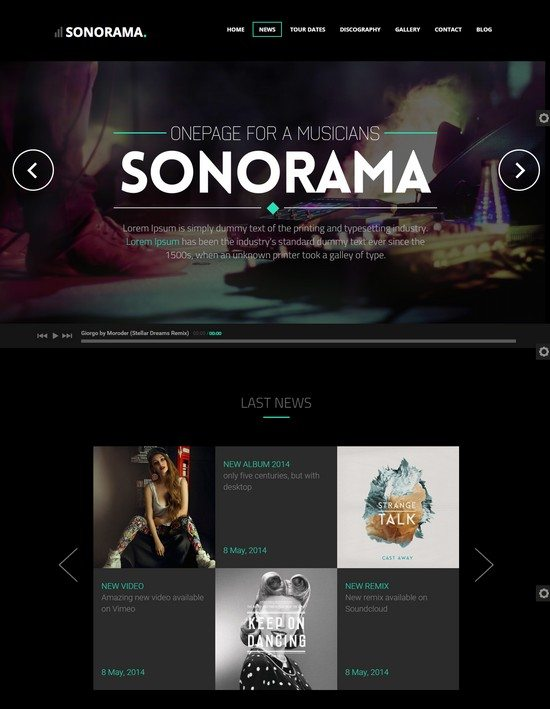 Soundboard - a Premium Responsive Music WordPress Theme