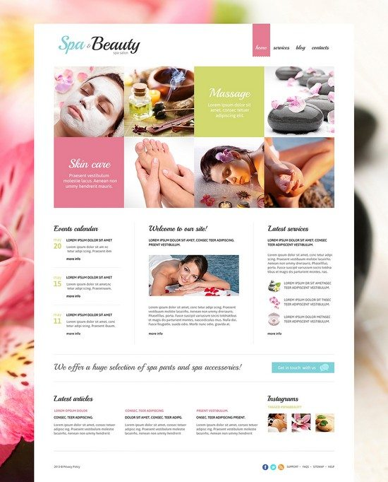Spa Beauty Salon Responsive Joomla Template
