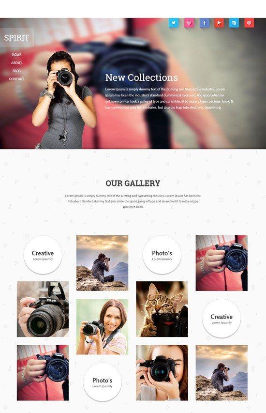 Spirit a Photographer portfolio Flat Responsive web template