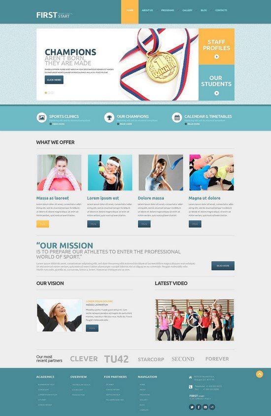 Sport Responsive WordPress Theme