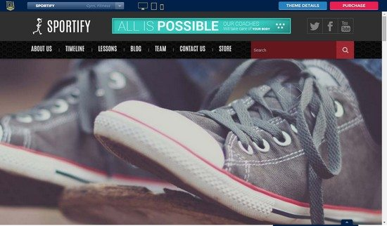 Sportify - Gym WordPress Theme