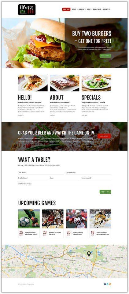 Sports Bar Joomla Template