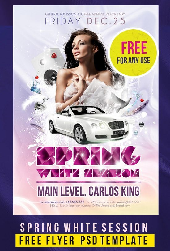 Spring White Session Flyer PSD Template