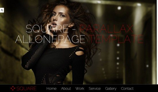 Square – HTML5 Parallax and Responsive Template
