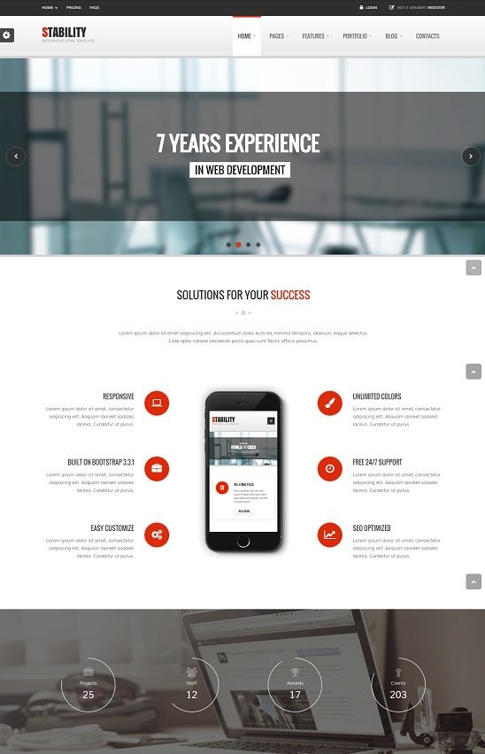 Stability - Responsive HTML5 CSS3 Template