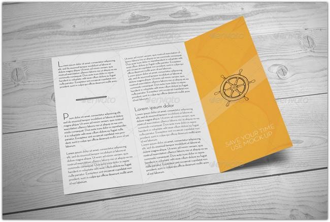 Standard Tri-Fold Brochure Mockup