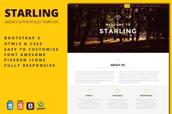 Starling - Creative Agency Template