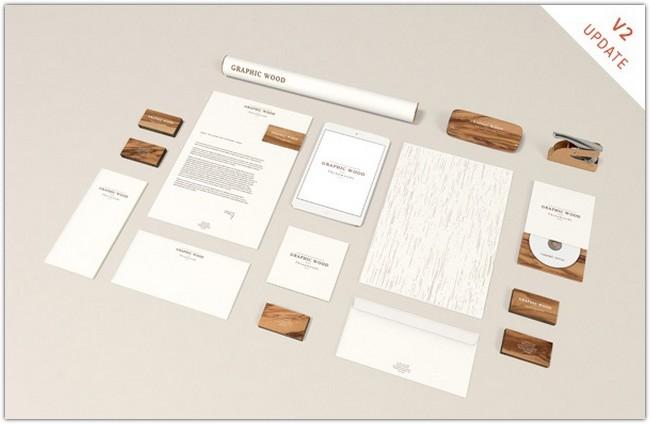 Stationery MockUp – Wood Edition