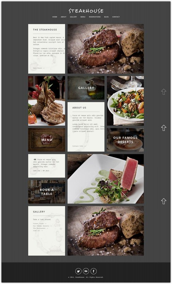 Steakhouse Responsive Retina Joomla Restaurant