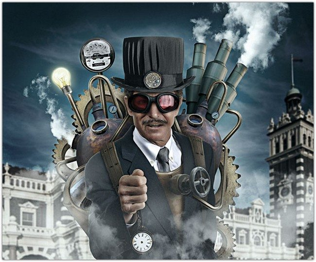 Steampunk Style Illustration in Photoshop