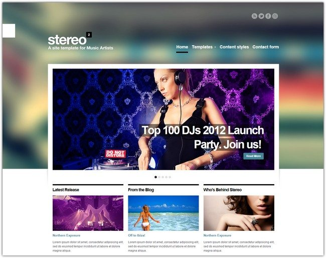Stereo Squared Responsive Music HTML template