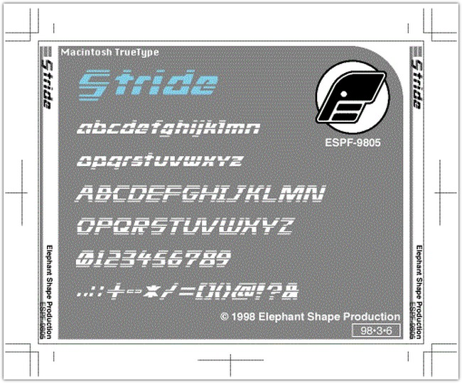 Stride font by Elephant Shape