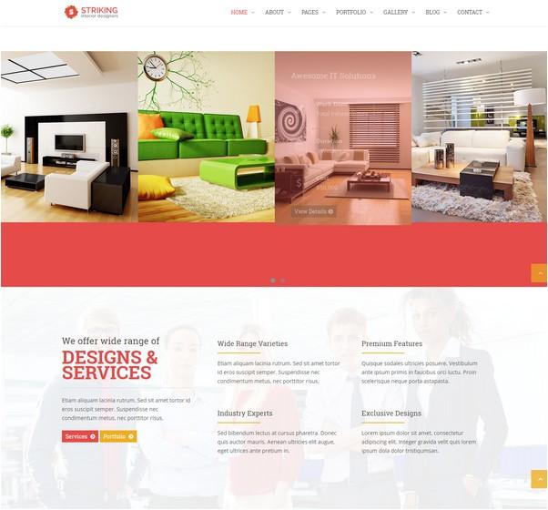 Striking Interior Design Company Template
