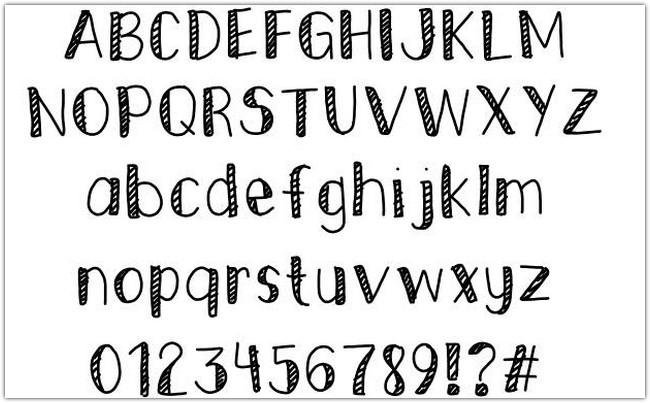 Striped Edges Font