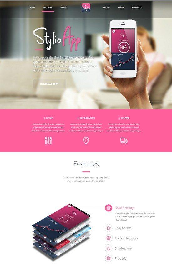 Stylio - Responsive HTML5 App Landing Page