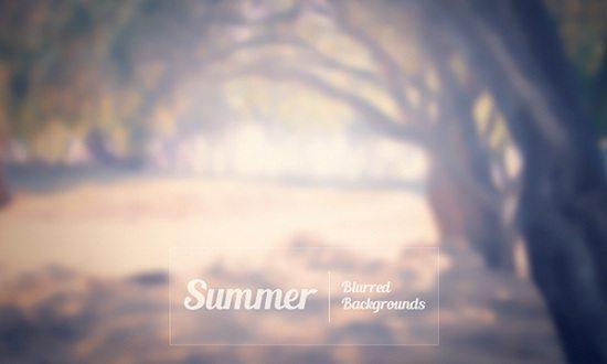 Summer Blurred Backgrounds
