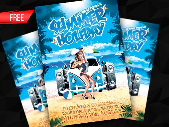 Summer Holiday Flyer Template (PSD)
