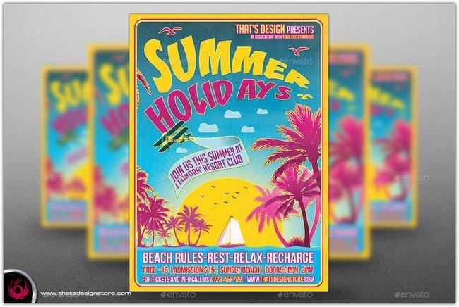 Summer Holidays Flyer Template V2