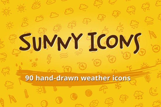 Sunny Icons 90 weather icons