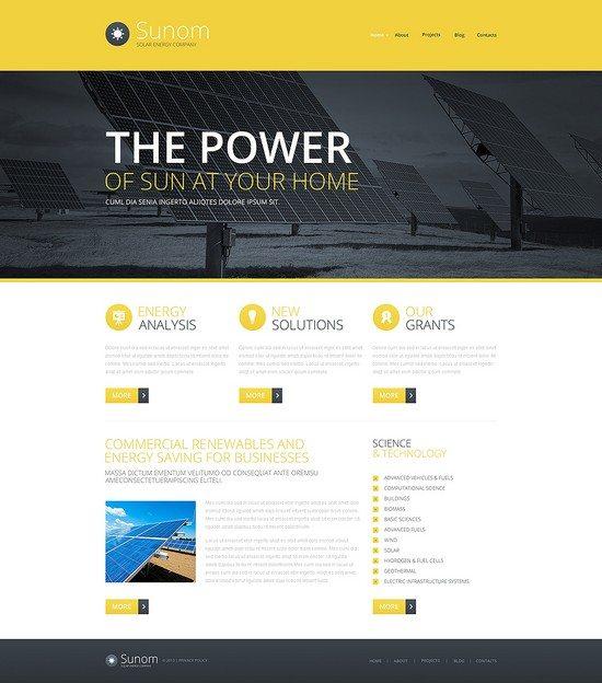 Sunom Solar Energy Responsive Website Template