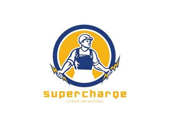 Supercharge Lithium Batteries Logo