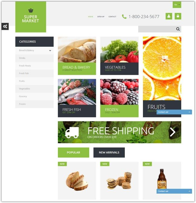 Supermarket Template PrestaShop Theme