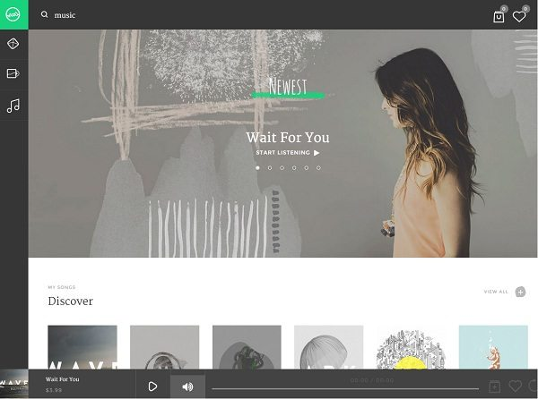 Sura - A Music Web App WordPress Theme