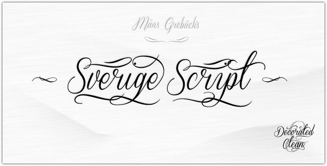 Sverige Script Font