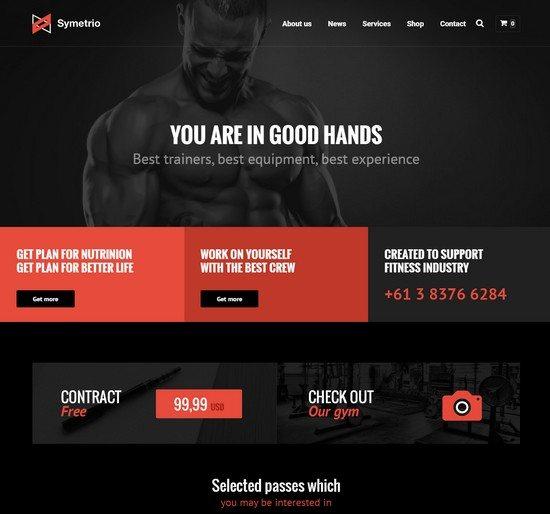 Symetrio – Multi-Sport, Gym, Fitness Theme