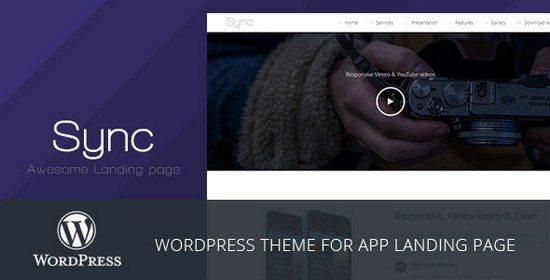 Sync - WordPress App Landing Page