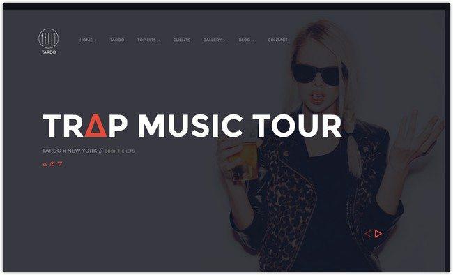TARDO DJ & Producer Bootstrap Template
