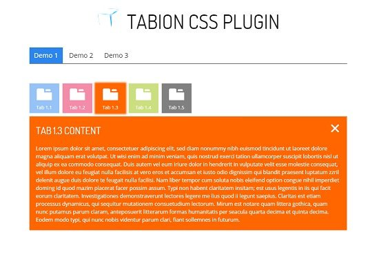 Tabion - Metro Tab Accordion Switcher CSS