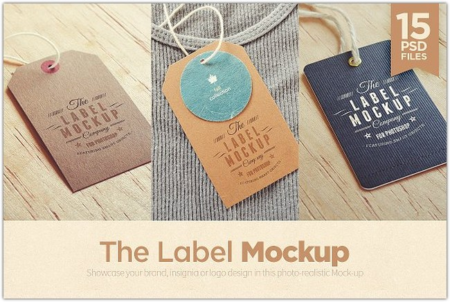 Tags Labels Logo Mockup
