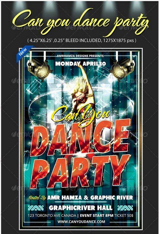 Talent Dance Show Flyer Template