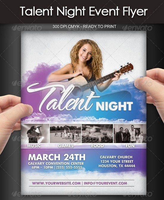 Talent Show Event Flyer