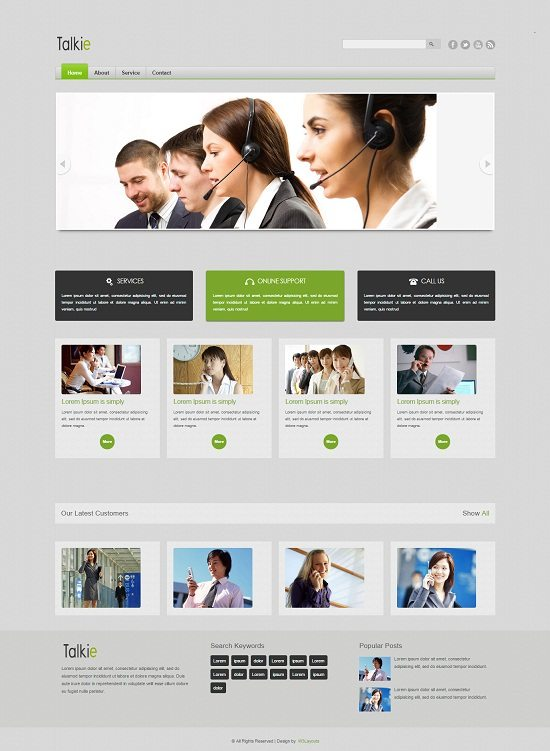 Talkie Corporate Business Mobile website Template
