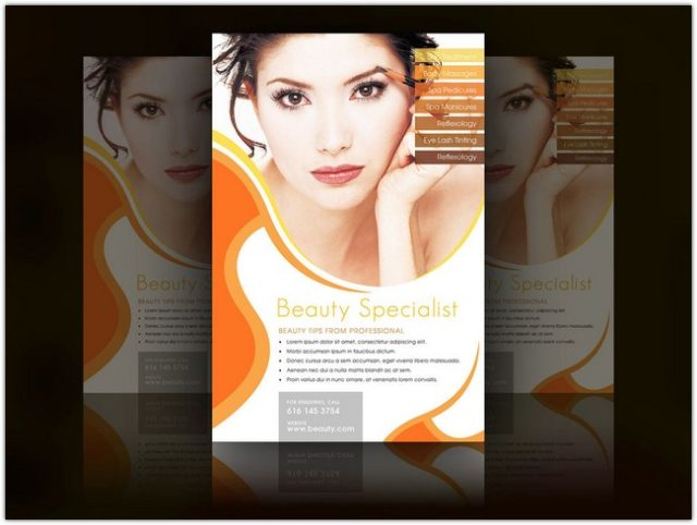 Tangerine Beauty and Cosmetic Flyer