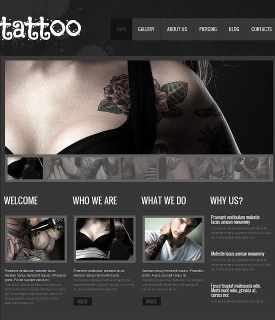 Tattoo Salon WP Theme