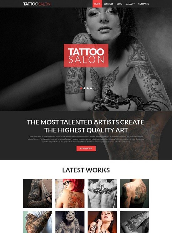 Tattooing Joomla Template