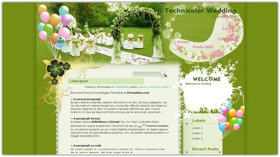 Technicolor Wedding