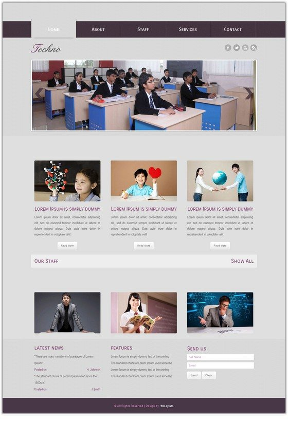 Techno Educational Mobile Website Template