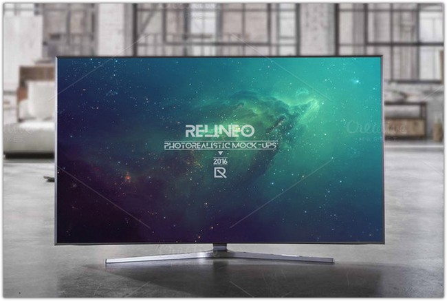 Television Display Mock-up 8 Relineo