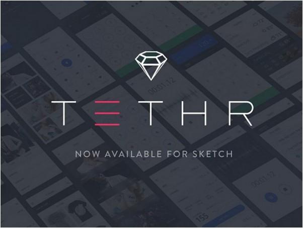 Tethr – Free UI kit for iOS